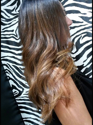 ombr hair chatain caramel