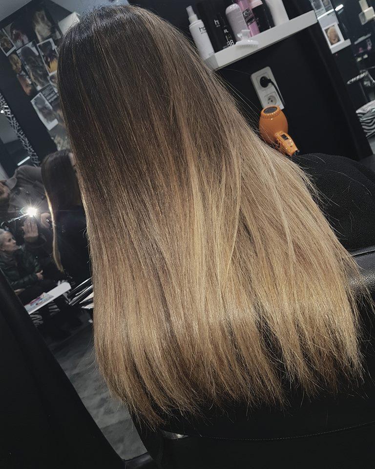 Bien-aimé Ombré hair en châtain blond soleil coiffeur pour femme Paris SI75