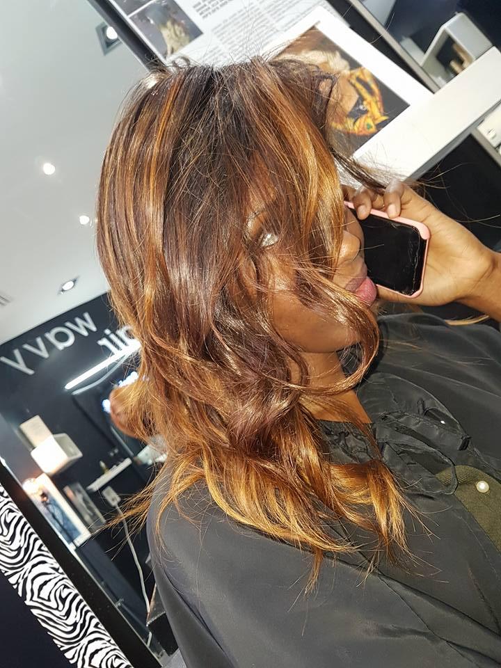 Ombré hair roux blond miel Coiffeur Paris ouvert dimanche