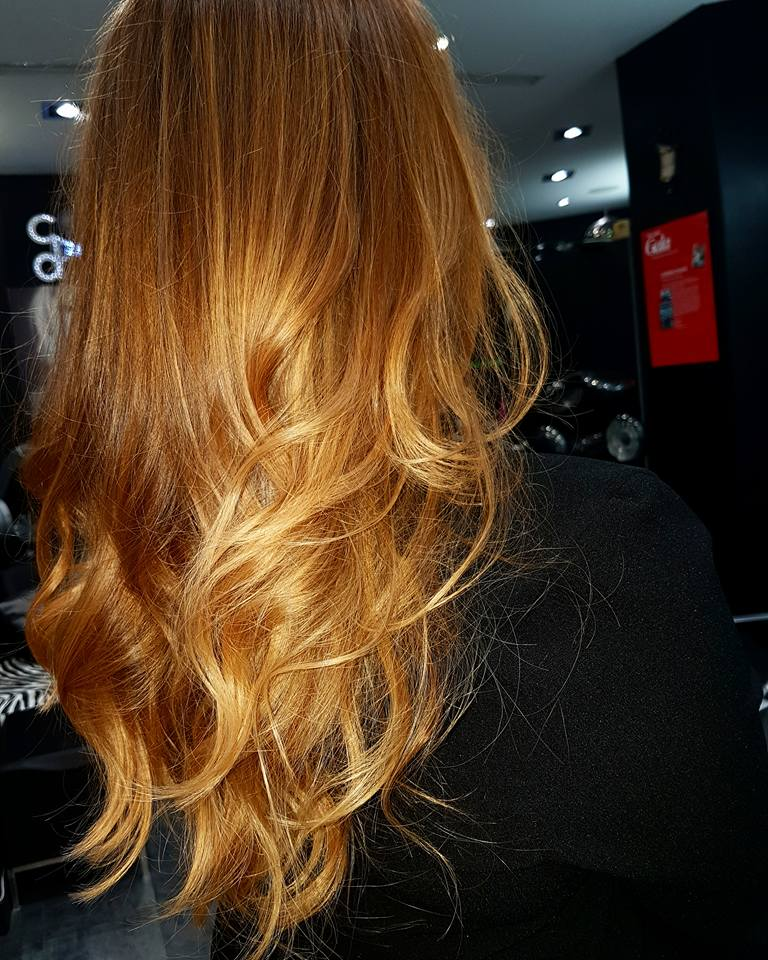 ombre,hair,roux,blond,miel